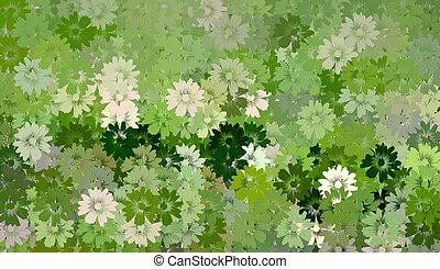 Green Floral Background - Beautiful background of green and...