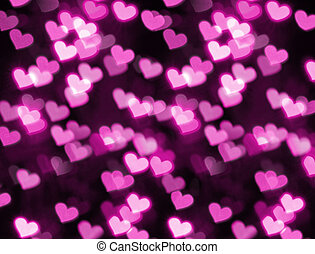 Photo of heart shape bokeh