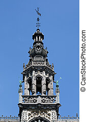 Detail of Maison du Roi on Grand Place in Brussels. - Detail...