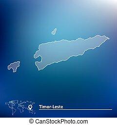 Map of Timor-Leste - vector illustration