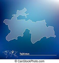 Map of Tajikistan - vector illustration