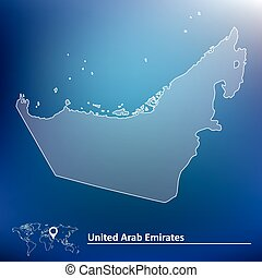 Map of United Arab Emirates - vector illustration