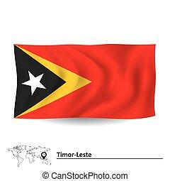 Flag of Timor-Leste - vector illustration