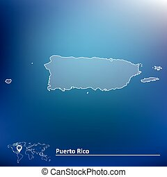 Map of Puerto Rico - vector illustration