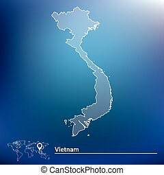 Map of Vietnam - vector illustration