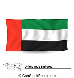 Flag of United Arab Emirates - vector illustration