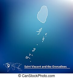Map of Saint Vincent and Grenadines - vector illustration