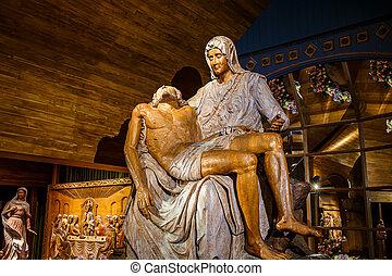 Jesus Wood Carving