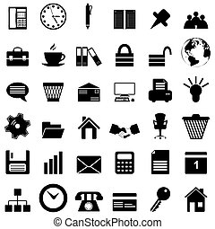 empresa / negocio, oficina, iconos, Conjunto