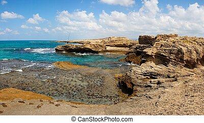 Scenic sea coast landscape
