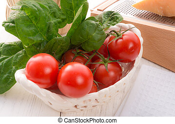 Tomatoes with Spinach