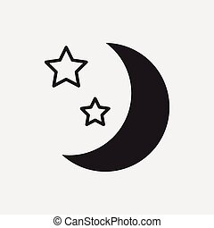 Space moon icon