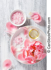 pink flower salt peony essential oil for spa and...