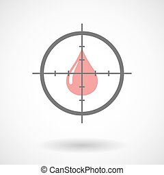 Crosshair icon targeting a fuel drop - Illustration of a...