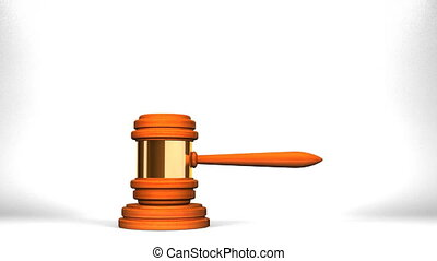 Wooden Judge Gavel On White Background.
