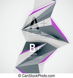 Geometric shapes in the air. Vector abstract background