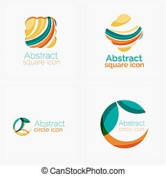 Clean elegant circle shaped abstract geometric logo....