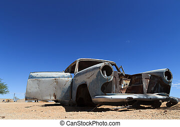 Abandoned car from Solitaire, Namibia