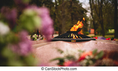 Eternal Flame - symbol of victory in World War II - Photo of...