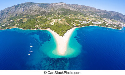 Zlatni Rat aerial view - Aerial view of Zlatni Rat beach...