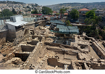 City of David in Jerusalem - Israel - JERUSALEM - MAY 05...