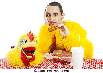 Teen Works in Fast Food