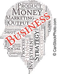 Business and finance related word art head - Business...