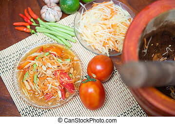 quot;Som Tumquot; spicy papaya salad - Som Tum spicy papaya...