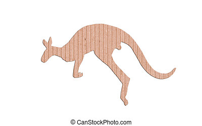 kangaroo shape paper box on white background