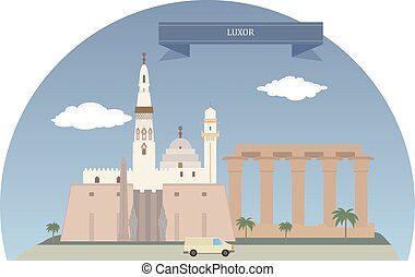 Luxor, Egypt - Luxor City in Upper Egypt and the capital of...