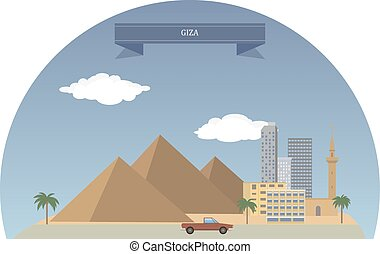Giza, Egypt - Giza.Third largest city in Egypt