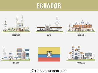 Cities in Ecuador. Famous Places Eciador cities