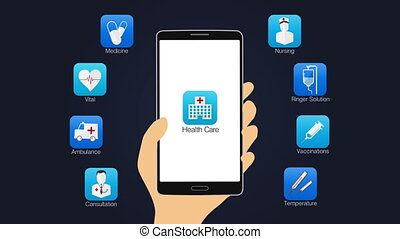 Health care application, smartphone - Health care...