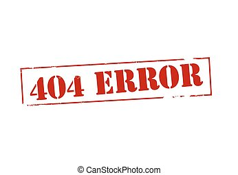 Error - Rubber stamp with text error inside, vector...