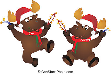 Festive Moose - Moose, Joy and Greetings, getting in to the...