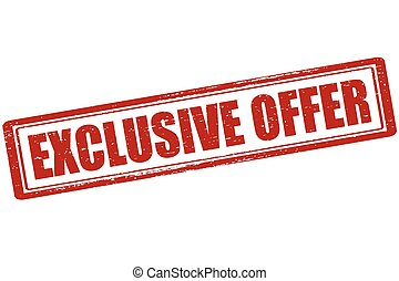 Exclusive Offer Stock Illustration Images 4382