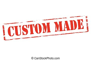 Custom made - Rubber stamp with text custom made inside,...