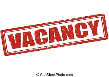 Vacancy - Rubber stamp with word vacancy inside, vector...