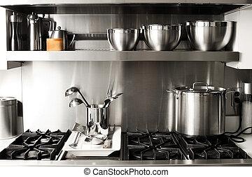 kitchen stuff - quite new kitchen stuff in silver black...