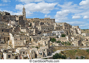 Panoramic view of Matera Basilicata Italy