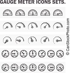 guage_meter_icon - Gauge meter icons sets
