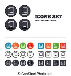 Document signs File extensions symbols - Download document...
