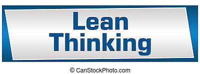 Lean Thinking Blue Silver - Lean thinking image text written...