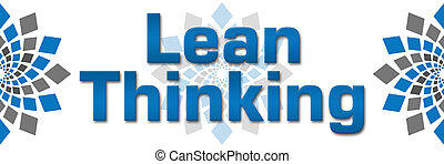 Lean Thinking Blue Grey Squares - Lean thinking image with...