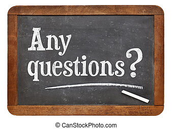 Any questions on blackboard - Any question question - text...