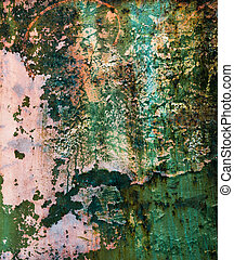 Old Peeling Paint on a Metal Grunge Background