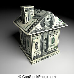 House from money. Business concept - House from the money....