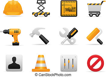 Construction Icon Set - Tools and Setting Icons