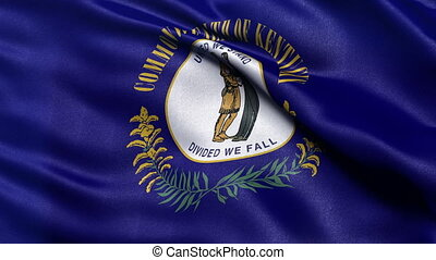Kentucky state flag seamless loop - Realistic Kentucky state...
