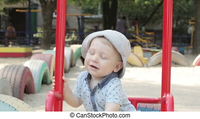 Child on swing